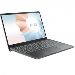 MSI Modern 14 B10MW-443FR PC Portable 14'' FHD - Core i5-10210U - RAM 8Go - SSD 512Go - W10 - AZERTY - vue de trois quart