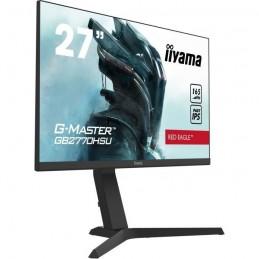 "IIYAMA G-Master Red Eagle GB2770HSU-B1 Ecran PC Gamer 27"" FHD - 165 Hz - HDMI / DisplayPort - FreeSync - vue de trois quart"