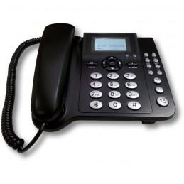 """COCOMM F300 Noir Téléphone Filaire 3G GSM - Ecran LCD 2.1"""""""