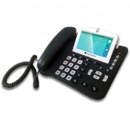 """COCOMM F840 Noir Téléphone Filaire 4G - Ecran LCD 4.5"""" couleur tactile"""