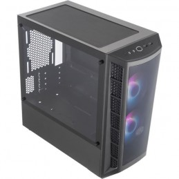 COOLER MASTER MB320L ARGB Dark Mirror Boitier PC Gaming Mini Tour - Micro-ATX, Panneau en verre trempé - vue de trois quart