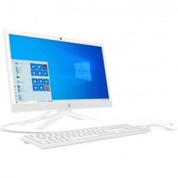 """HP 21-b0055nf PC All-in-One 21"""" HD - Celeron J4025 - RAM 4Go - SSD 256Go - Windows 10 - Blanc"""