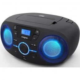 BIGBEN CD61NUSB LECTEUR CD/USB/RADIO portable avec effets lumineux - Noir