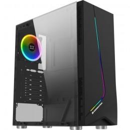 XIGMATEK Eros Noir Boitier PC Moyen tour - Format ATX - Fenetre laterale verre trempé