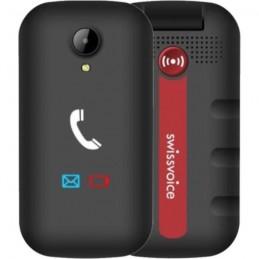 SWISSVOICE S28 Noir Téléphone mobile débloqué 2G a clapet pour séniors