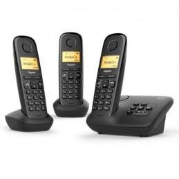 GIGASET A270 A Trio Noir Téléphone sans fil avec répondeur