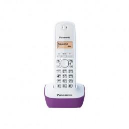 PANASONIC KX-TG1611FRF Solo Téléphone Sans Fil sans répondeur - Blanc Pourpre