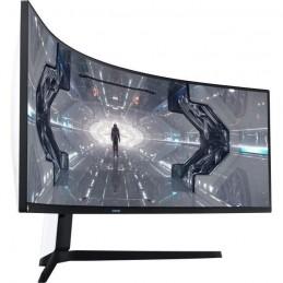"SAMSUNG ODYSSEY C49G95TSS Ecran PC Gamer 49"" Incurvé DWQHD - Dalle VA - 1ms - 240Hz - HDMI / DP - Pied Ajustable - vue de 3/4"