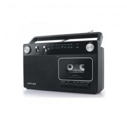 MUSE M-152 RC Noir Radio Cassette analogique FM/MW - vue de trois quart