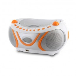 METRONIC 477133 Radio CD Juicy - AM/FM - USB - Blanc / orange