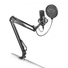 TRUST GAMING GXT252 Emita Micro filaire USB - Avec bras et filtre anti pop