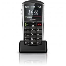 EMPORIA Pure Noir Téléphone modile GSM Ecran LCD 2''