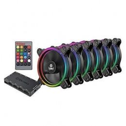 ENERMAX T.B.RGB Pack de 6 Ventilateurs Boitier PC 120mm - RGB Sync Ready avec hub et télécommande 3-en-1