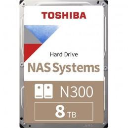TOSHIBA 8To N300 HDD 3.5'' - 7 200 tr/min - Cache 256Mo - NAS Boite Retail (HDWG180EZSTA)