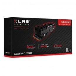 PNY 500Gb SSD CS3040 XLR8 - M2 NVMe avec dissipateur de chaleur - (M280CS3040HS-500-RB) - vue emballage