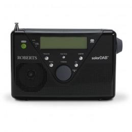 ROBERT SOLAR DAB 2 Radio numérique DAB+ (RNT) et FM - Batterie recharge batterie par panneau solaire - Noir - vue de face