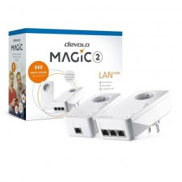 DEVOLO Magic 2 LAN triple Starter Kit CPL - Jusqu'a 2400 Mbits/s - vue emballage