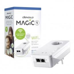 DEVOLO Magic 1 Wifi 2-1 1200 Mbits/s - Adaptateur CPL - 1 amplification WiFi - 2 connecteurs LAN - vue emballage