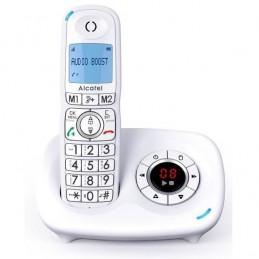 ALCATEL XL 595 B Voice Solo Blanc Grand écran confort Téléphone sans fil avec répondeur - vue de face