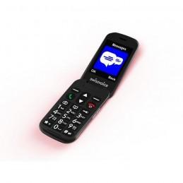SWISSVOICE D28 Noir Téléphone mobile GSM débloqué 2G a clapet pour séniors