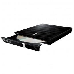 ASUS SDRW-08D2S-U LITE Noir Lecteur Graveur DVD 8X externe USB2.0 - vue a plat