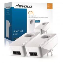DEVOLO dLAN 550 Duo+ Satrer Kit 2 CPL 500 Mbit/s - 2 ports Fast Ethernet - Prise Filtrée Intégrée - vue emballage