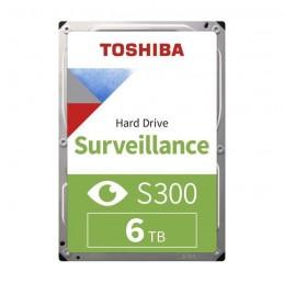 TOSHIBA 6To S300 HDD 3.5'' SATA 6Gbs 7200 rpm - Cache 256Mo (Bulk) (HDWT360UZSVA) - vue de dessus