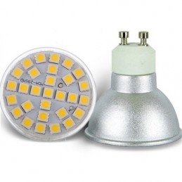 AMPOULE GU10 6W LED 29 SMD 5050 BLANC FROID