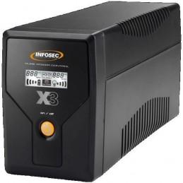 INFOSEC UPS SYSTEM X3 EX 500 Onduleur 500VA - LCD - USB