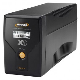 INFOSEC UPS SYSTEM X3 EX 800 Onduleur 800VA - LCD - USB - 2 prises