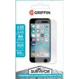 GRIFFIN Protection ecran verre trempé Survivor pour iPhone 7