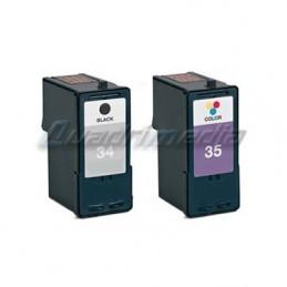 Lexmark N° 34 XL + 35 XL CARTOUCHES JET D'ENCRE PACK COMPATIBLE
