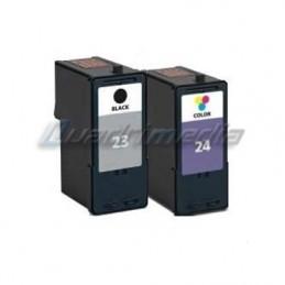 LEXMARK N° 23 + 24 CARTOUCHES JET D'ENCRE PACK COMPATIBLE