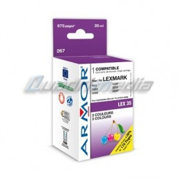 LEXMARK N° 35 CARTOUCHE JET D'ENCRE COULEUR C/M/Y COMPATIBLE ARMOR K20235