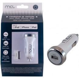 MCL Chargeur de voiture universel certifié iPhone ou iPad