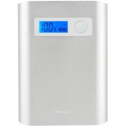 PNY PowerPack Alu Digital 10400mAh 2,4A / 1A - 3 USB BATTERIE EXTERNE SMARTPHONE TABLETTE