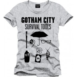 COTTON DIVISION Batman T-shirt Survival Tools Gris S