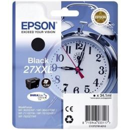 EPSON 27XXL T2791 CARTOUCHE D'ENCRE NOIR WorkForce WF 3620, 3640, 7110, 7610, 7620 ...