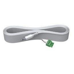 VISION Câble audio 10m mini-phone stéréo 3,5mm (M) - fil dénudé