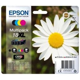EPSON 18XL T1816XL Multipack Noir, Cyan, Magenta, Jaune pour XP-215 XP-315 XP-415 ...