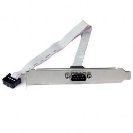 STARTECH Plaque 40cm série mâle 9 broches vers connecteur interne de carte mère 10 broches
