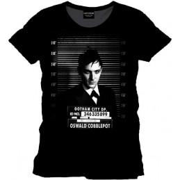 COTTON DIVISION Batman T-shirt Oswald Cobblepot Mugshot Noir XXL