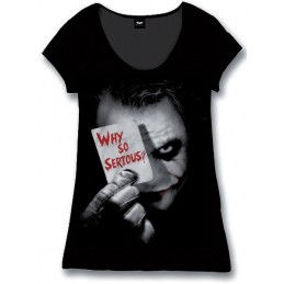 COTTON DIVISION Batman T-shirt Femme Why So Serious Noir L
