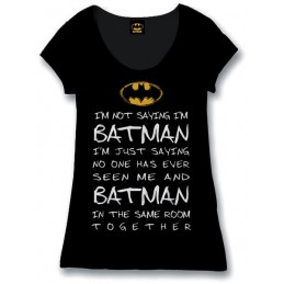 COTTON DIVISION Batman T-shirt I'M Not Saying I'M Batman Noir XL - COUPE FEMME