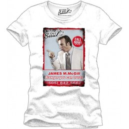 COTTON DIVISION Breaking Bad T-shirt BCS Saul Goodman Blanc S