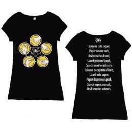 COTTON DIVISION Big Bang T-shirt Femme Pierre Feuille Noir XL