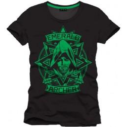 COTTON DIVISION Arrow T-shirt Emerald Noir M