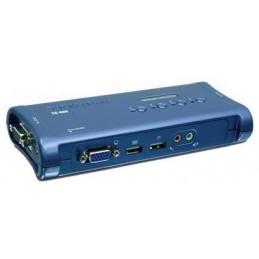 TRENDNET TK-409K SWITCH KVM 4 PORTS - USB + AUDIO / COMMUTATEUR ÉCRANS, CLAVIERS ET SOURIS