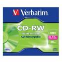 CD-RW 700MB / 80 MN VERBATIM ÉCRITURE 8-12X RÉINSCRIPTIBLE - JAQUETTE