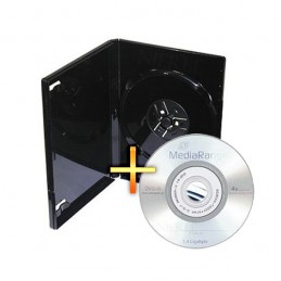 BOITIER RANGEMENT 1 MINI CD / DVD 8CM + 1 MINI DVD-R 1,4GB ÉCRITURE 4X MEDIARANGE